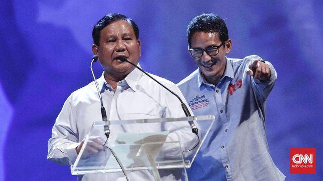 Prabowo Subianto disebut akan menyampaikan sikap politik Partai Gerindra dan kembalinya Sandiaga Uno menjadi kader usai kalah di pilpres 2019.