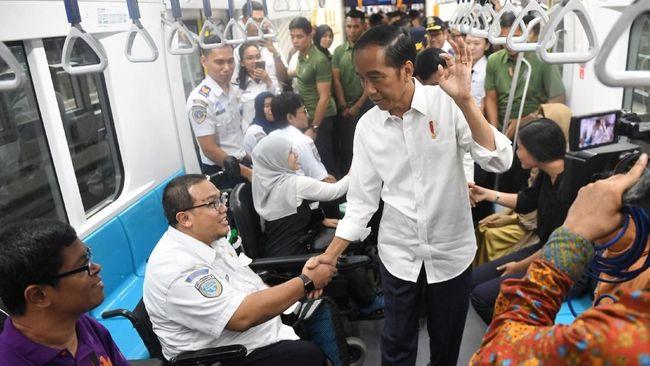 Jokowi dijadwalkan meresmikan MRT hari ini, Minggu (24/3) di Bundaran HI.