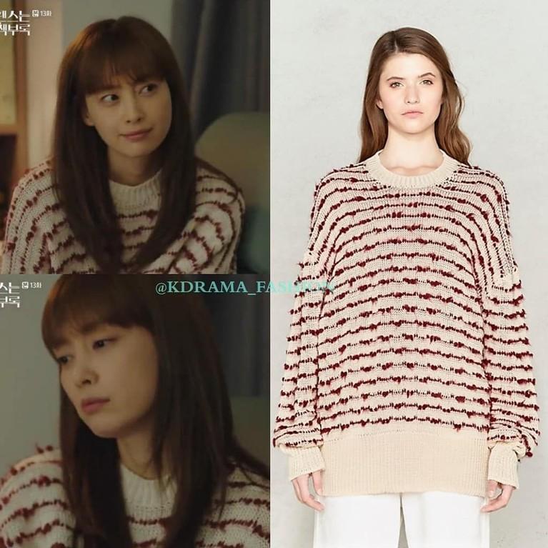 Kendati simpel, sweater Lee Na Young dalam drama Romance is a Bonus Book ini juga lucu lho buat kamu miliki. Eits, sweater ini merupakan produksi oleh Golden Goose Deluxe Brand dari Italia.