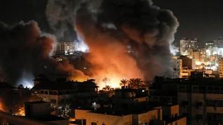 Balas Serangan Roket, Jet Israel Gempur Basis Hamas di Gaza