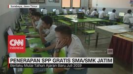 VIDEO: Pemprov Jatim Akan Gratiskan Biaya SPP SMA & SMK