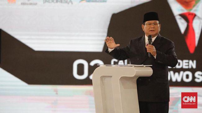 Capres nomor urut 02 Prabowo Subianto menyebut pertahanan Indonesia sangat lemah karena tidak punya uang cukup. Hal ini kerap jadi ejekan negara lain.