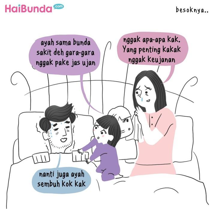 Semua orang tua pasti rela melakukan apa saja demi anaknya. Bunda juga pernah melakukan hal serupa dengan Ayah dan Bunda di komik ini demi kakak?