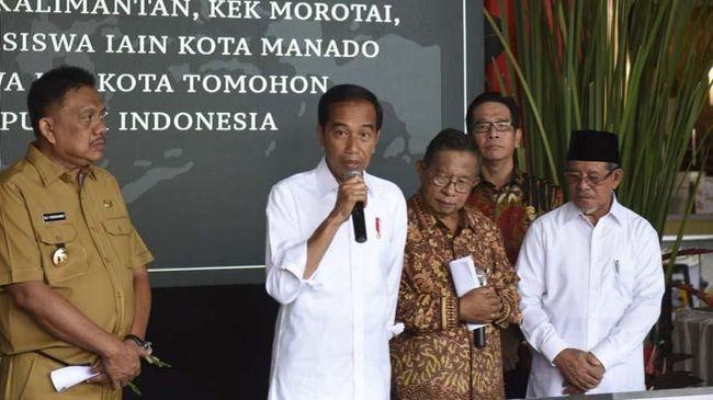 Presiden Jokowi meresmikan Kawasan Ekonomi Khusus (KEK) di Manado, di Maluku Utara, dan Kalimantan Utara. KEK ini diharapkan menarik investasi Rp110 triliun.