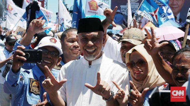 Politikus PKS Mahyeldi Ansharullah menyampaikan falsafah Minang terkait syariah setelah dilantik sebagai Gubernur Sumatera Barat.
