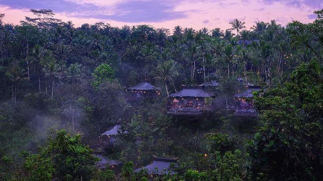 Pemandangan hotel Capella di Ubud, Bali.
