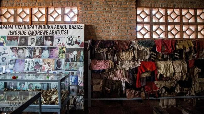 Museum Genosida di Kigali, Rwanda menjadi pembaringan bagi sekitar 250 ribu korban meninggal dalam pembantaian tahun 1994.