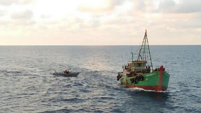 KKP Tangkap Kapal Ikan Ilegal Malaysia di Selat Malaka