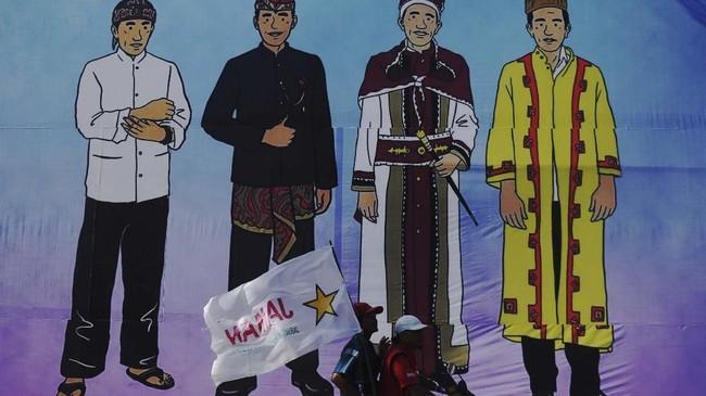 Kampanye terbuka pilpres 2019 Sabtu (6/4), Jokowi didampingi Iriana ke Sumatera Utara, sementara Prabowo menyapa pendukungnya di Ciamis Jawa Barat.