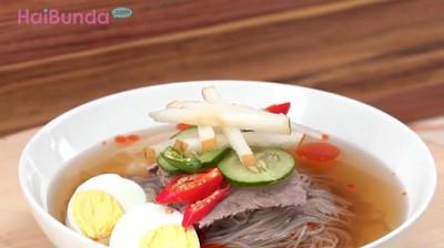 Resep Korean Cold Noodle, Sensasi Dingin dalam Semangkuk Mi