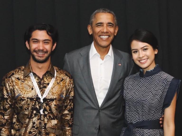 Maudy telah beberapa kali bertemu dengan sosok pemeran Habibie (Reza Rahadian), baik dalam penggarapan film maupun saat menyambut tamu kehormatan.