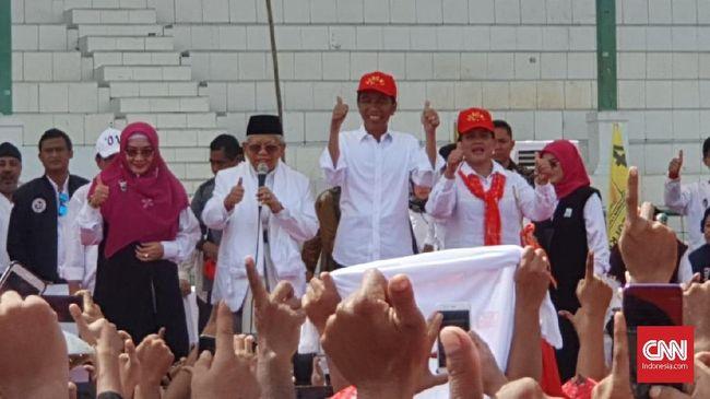 Entri data Situng KPU 80 persen, hasilnya Jokowi-Ma'ruf meraih 69.566.654 suara (56,32 persen), Prabowo-Sandi 53.947.325 suara atau (43,68 persen).