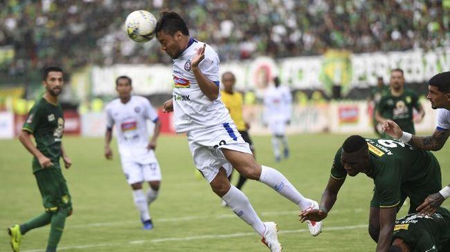 Arema FC akan menghadapi Persela Lamongan di Stadion Kanjuruhan dalam Derby Jawa Timur di Liga 1 2019, Senin (27/5) malam.