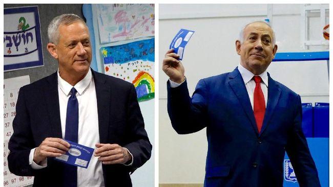 Pemilu Israel Imbang, Netanyahu dan Gantz Negosiasi Koalisi