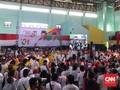 Gegap Gempita Warga Sukabumi Sambut Jokowi di Arena Kampanye