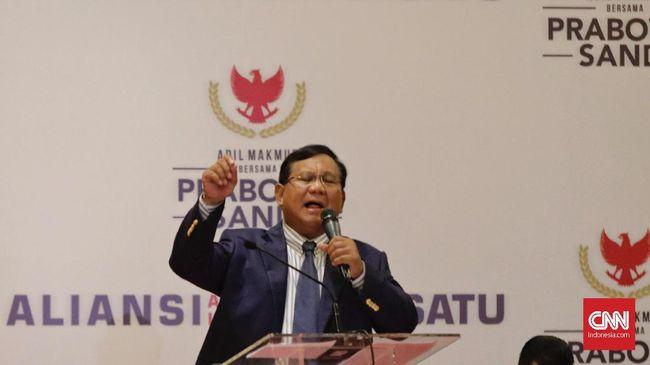 Dalam pidato kebangsaannya di Surabaya hari ini, Capres Prabowo Subianto menjanjikan pertumbuhan ekonomi dua digit jika terpilih dalam Pilpres 2019 pekan depan.