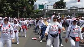 VIDEO: Masa Kampanye Jokowi-Ma'ruf Padati Jalan Sudirman