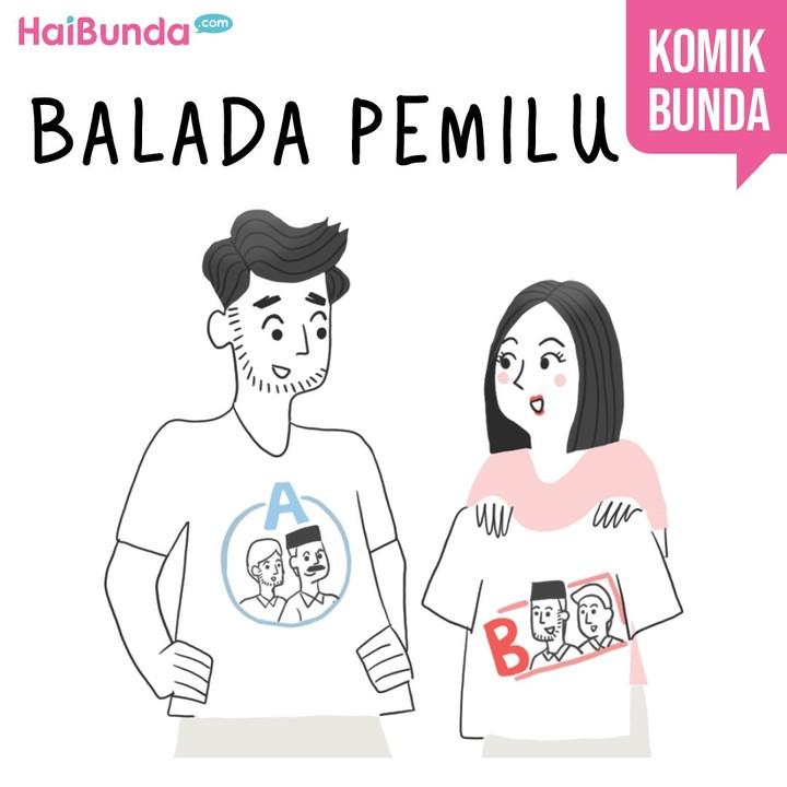 Beginilah cerita serba-serbi pemilu di keluarga Bunda di komik ini. Cerita pemilu di keluarga Bunda apa nih? Share yuk, Bun.