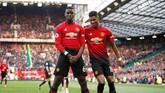 Manchester United menang 2-1 atas West Ham United di Old Trafford dalam laga Liga Primer Inggris, Sabtu (13/4), berkat dua gol Paul Pogba.
