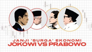 Janji 'Surga' Ekonomi Jokowi VS Prabowo