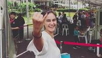 <p>Marissa Nasution juga nyoblos di negara tempat tinggalnya, Singapura. (Foto: Instagram @marissaln)</p>