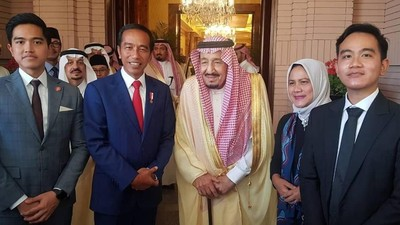 7 Momen Setianya Iriana Dampingi Jokowi Bertemu Raja Salman