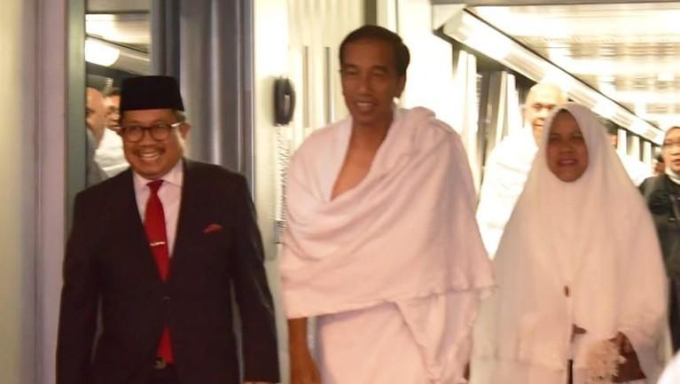 Jokowi dan Iriana dijadwalkan akan tiba kembali di Jakarta pada Senin (15/4) malam.