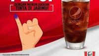 <p>Tanpa harus membeli makanan, Bunda bisa mendapatkan gratis Pepsi saat menunjukkan jari ungu ya.</p>