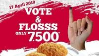 <p>Bunda bisa membeli roti varian floss hanya seharga Rp7.500</p>