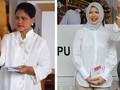 Heels Iriana Jokowi dan Lipstik Merah Nur Asia Uno di Pemilu