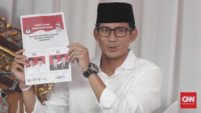 Jokowi-Ma'ruf Unggul Telak di 'Kandang' Sandiaga