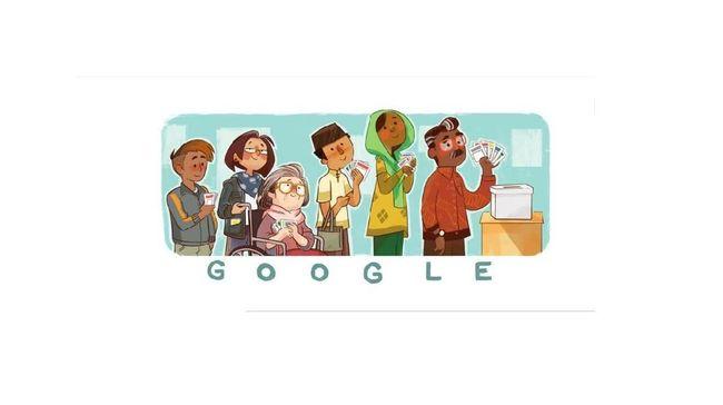 Google kembali mengeluarkan Doodle dengan tema Pemilu 2019.