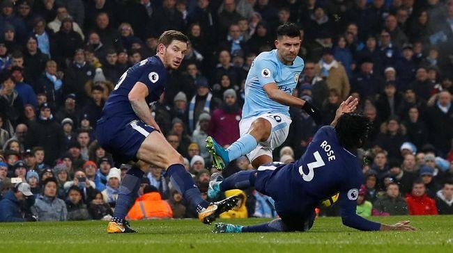 Manchester City kembali menghadapi Tottenham Hotspur di Liga primer Inggris usai keduanya bertemu di dua leg Liga Champions.