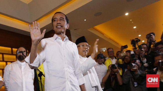 Hasil quick count atau hitung cepat Pilpres 2019 dari 4 lembaga survei dari data yang masuk di atas 95 persen menunjukkan Jokowi-Ma'ruf ungguli Prabowo-Sandi.