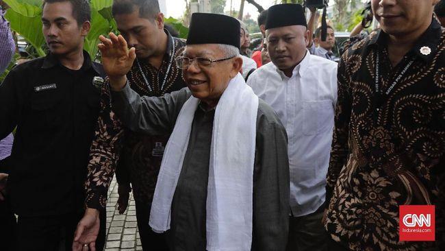 Wakil Presiden Ma'ruf Amin mengklaim telah mendorong MUI untuk menyatakan bahwa mudik di tengah corona haram hukumnya.