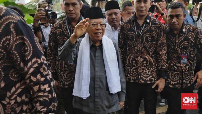 Ma'ruf Amin meminta tokoh agama dan negarawan mengawal pengumuman hasil Pemilu 2019 dari KPU sehingga tidak terjadi gejolak di masyarakat.