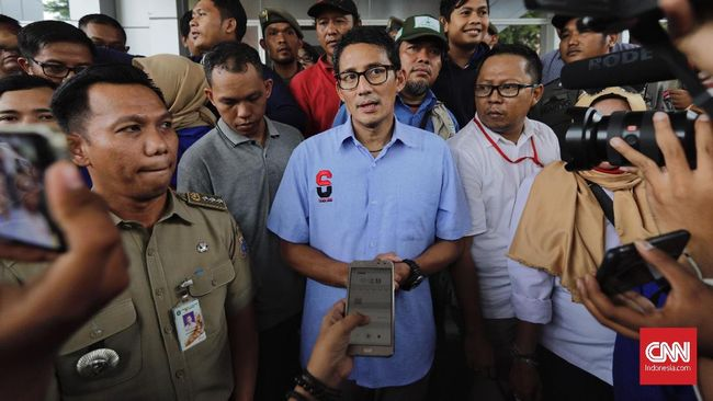 Calon wakil presiden nomor 02 Sandiaga Uno enggan menghadiri peringatan Hari Buruh pada 1 Mei karena khawatir dipolitisasi.