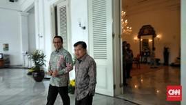 Sambangi Balai Kota DKI, JK Singgung Jasa Anies soal Masjid