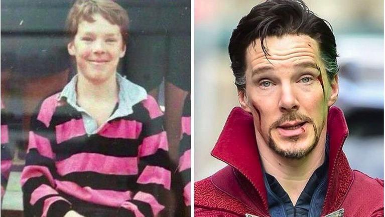 Memiliki perawakan yang serius sebagai Dr. Strange, ternyata Benedict Cumberbatch ini penuh senyum sewaktu masih kecilnya loh Insertizen.