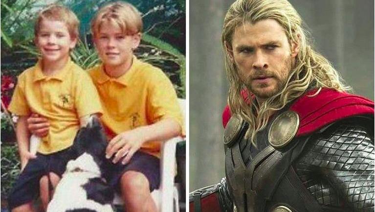 dari potret ini, seperti Chris Hemsworth ini tidakmengalami perubahan sama sekali ya Insertizen.Lekuk wajahnya awet dan khas sekali dari pemeran Thor ini.