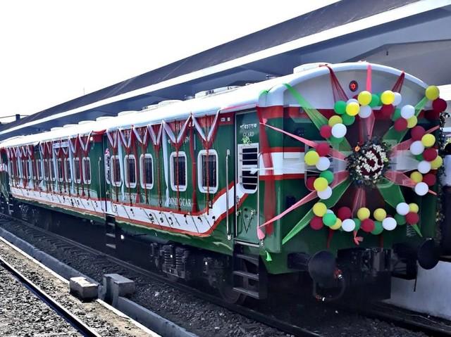 Meriahnya Peluncuran Kereta Made in Madiun di Bangladesh