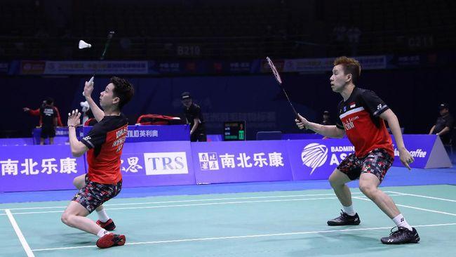 Kevin Sanjaya Sukamuljo/Marcus Fernaldi Gideon mengaku dinaungi keberuntungan dapat mengalahkan Takeshi Kamura/Keigo Sonoda dalam semifinal Kejuaraan Asia.