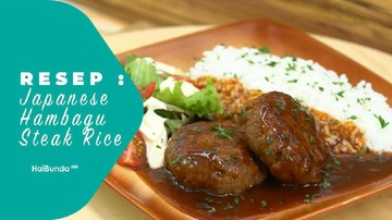 Resep Japanese Hambagu Steak Rice