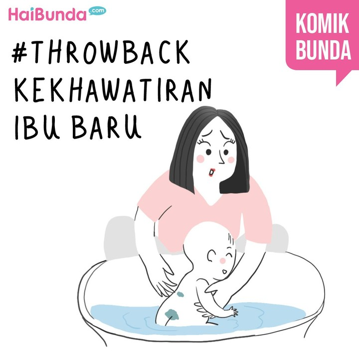 Beginilah kekhawatiran Bunda di komik ini setelah kakak lahir. Kalau Bunda, kekhawatiran sebagai ibu baru apa yang pernah dialami?