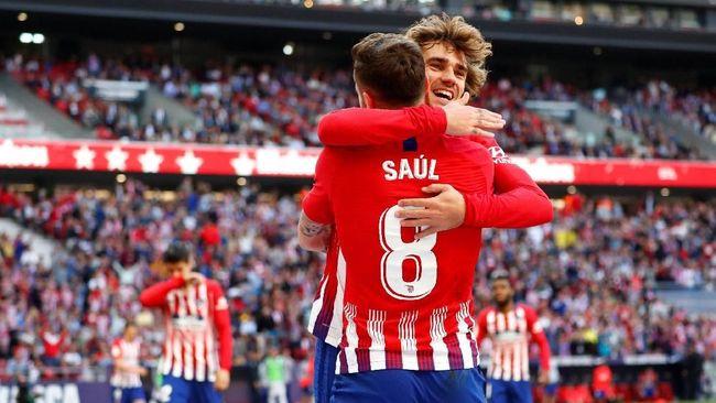 Atletico Madrid menang tipis 1-0 atas Real Valladolid dalam laga lanjutan La Liga Spanyol di Stadion Wanda Metropolitano, Sabtu (27/4) waktu setempat.