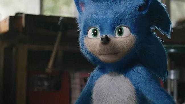 Aktor Jim Carrey tampil menyebalkan dalam perannya sebagai lawan Sonic si makhluk warna biru di 'Sonic The Hedgehog'.