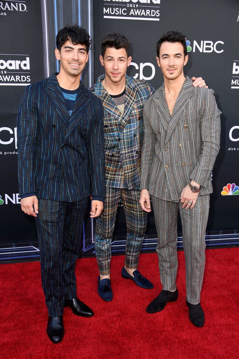 Penampilan Jonas Brothers di Billboard Music Awards 2019.