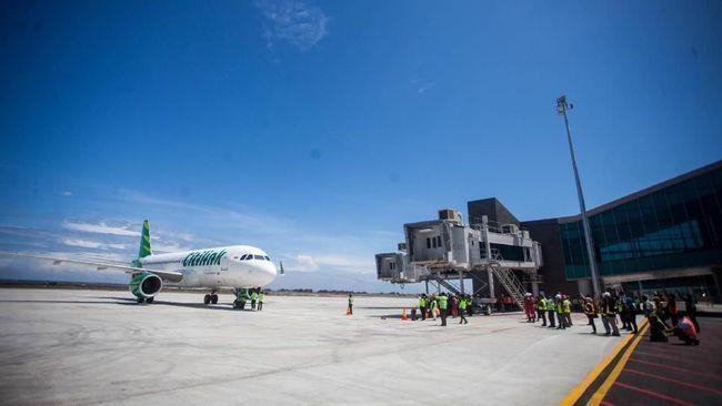 Jokowi yakin Bandara Kulon Progo yang baru diresmikannya Jumat (28/8) ini akan ramai usai pandemi corona berakhir.