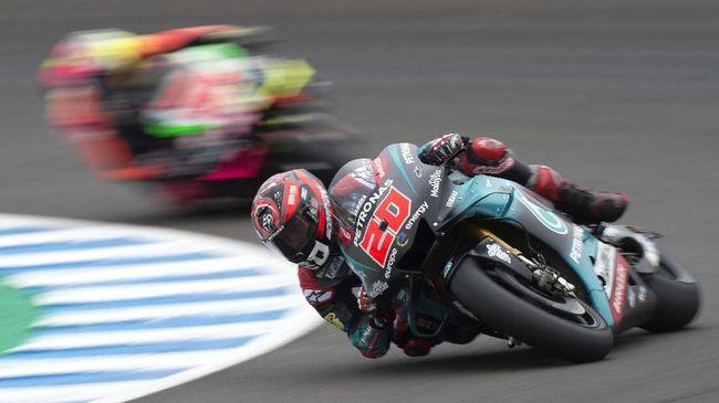 Pebalap muda Petronas Yamaha Fabio Quartararo menjadi yang tercepat pada latihan bebas pertama (FP1) MotoGP Prancis 2019 dengan mengalahkan Andrea Dovizioso.