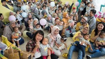 Kemeriahan Ultah Pertama Anak-anak Anggota Birth Club April 2018